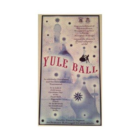 hogwarts yule ball poster