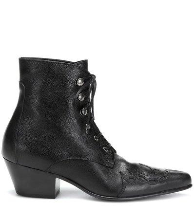 Susan Leather Ankle Boots - Saint Laurent | Mytheresa