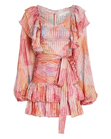 LoveShackFancy Moxie Pleated Silk Dress   INTERMIX®