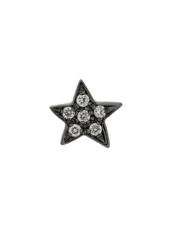 Carolina Bucci 18kt black gold diamond star earring £440 - Shop Online SS19. Same Day Delivery in London