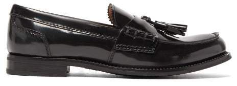 Tiverton Leather Penny Loafers - Womens - Dark Grey