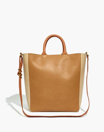 The Abroad Tote Bag: Colorblock Edition brown