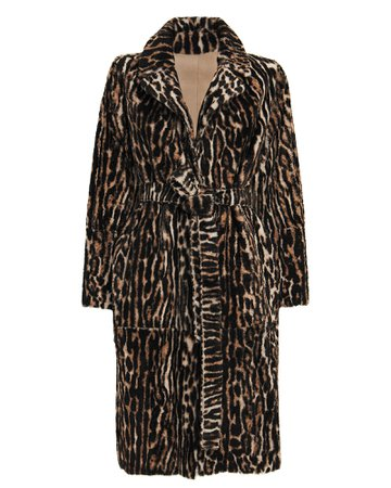 Yves Salomon Reversible Shearling Wrap Coat | INTERMIX®