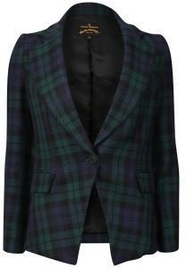 Vivienne Westwood Anglomania Women's Solo Jacket Blue/Black/Green