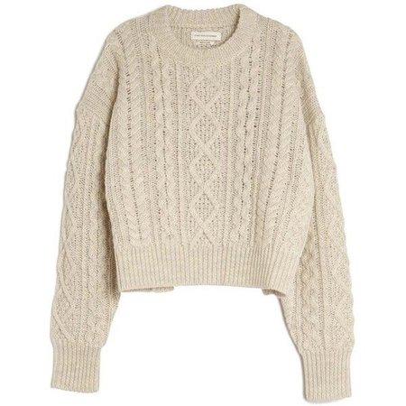 Chunky Knit Beige Sweater