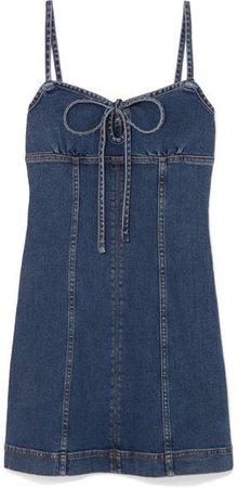 Denim Mini Dress - Mid denim