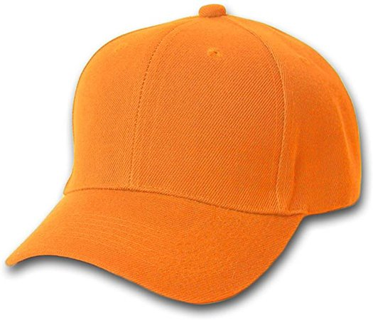 Plain Summer Baseball Cap Hat- Orange at Amazon Men's Clothing store