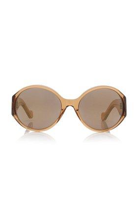 Oversized Round-Frame Acetate Sunglasses By Loewe | Moda Operandi
