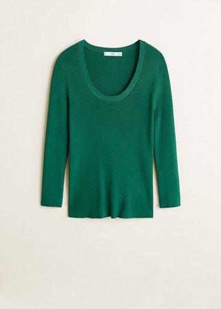 Ribbed knit sweater - Women | Mango USA