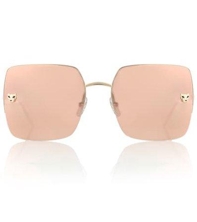 Panthère de Cartier square sunglasses
