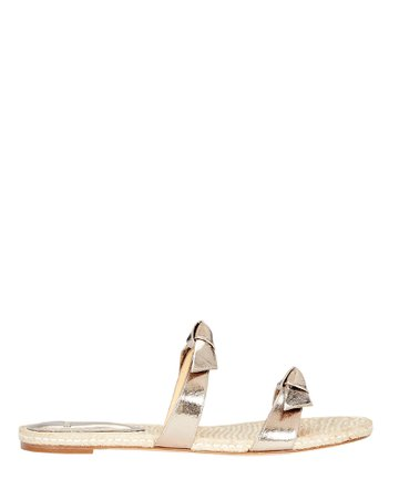 Alexandre Birman Clarita Leather Slide Sandals   INTERMIX®
