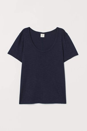 Slub Jersey T-shirt - Blue