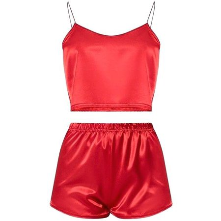 Satin Pajama Short Set