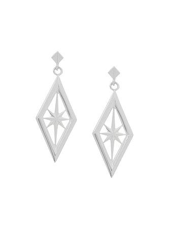 Rachel Jackson Nova Star Earrings NOVASTAREARRINGSSILVER Silver | Farfetch