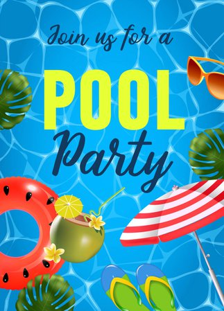 pool party poster - google