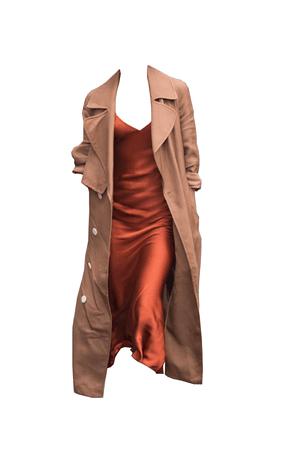 Burnt orange slip dress