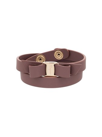 Salvatore Ferragamo Vara Bow Wrap Bracelet Aw20