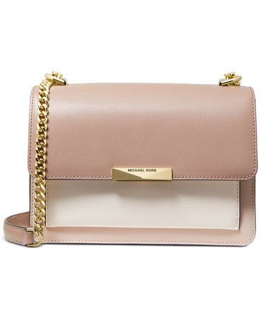 Michael Kors Jade Large Gusset Leather Shoulder Bag & Reviews - Handbags & Accessories - Macy's