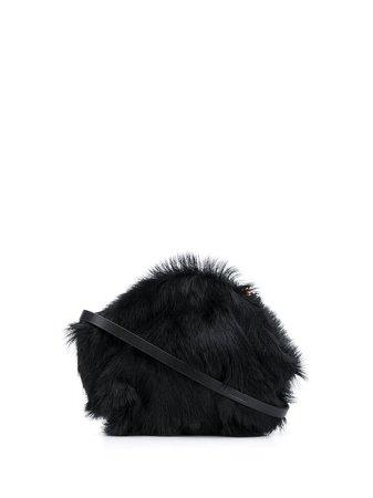 Blue Jil Sander mini Goji faux-fur crossbody bag - Farfetch
