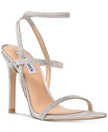 Steve Madden Nectur-R Rhinestone Stretch Dress Sandals & Reviews - Sandals & Flip Flops - Shoes - Macy's