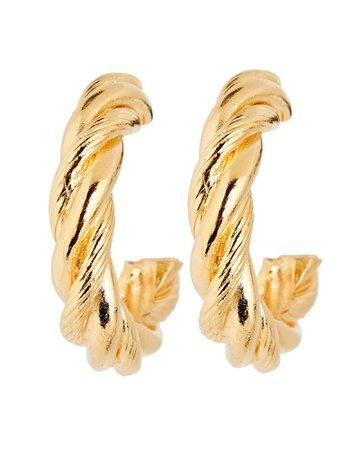 Ben-Amun Twisted Texture Hoop Earrings | INTERMIX®