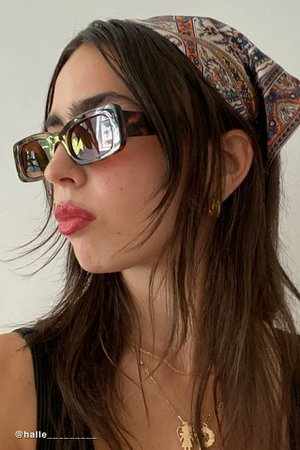 Sausalito Rectangle Sunglasses | Urban Outfitters