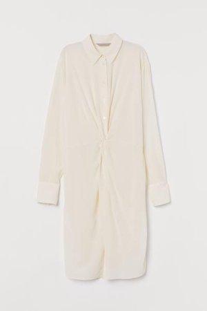 cream silk shirt dress – Google-Suche
