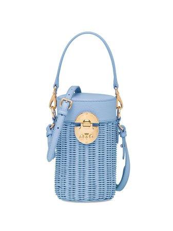 Miu Miu Wicker Detachable Straps Shoulder Bag - Farfetch