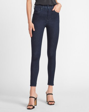 High Waisted Dark Wash Skinny Jeans