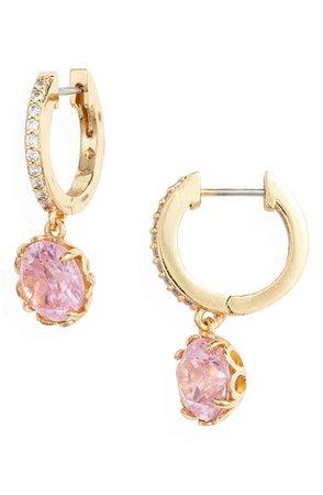 kate spade new york that sparkle pavé huggie hoop earrings | Nordstrom