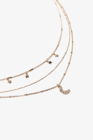Moon & Stars Layered Necklace | Forever 21