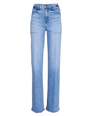 Veronica Beard Crosbie Wide-Leg Jeans | INTERMIX®