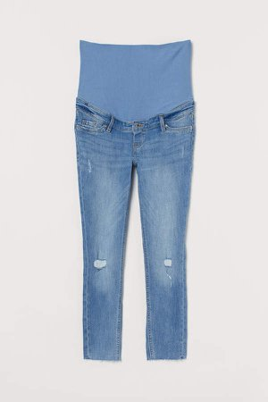 MAMA Skinny Ankle Jeans - Blue