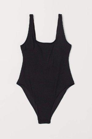 High Leg Swimsuit - Black