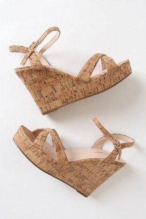 Cute Cork Sandals - Wedge Sandals - Cork Sandals