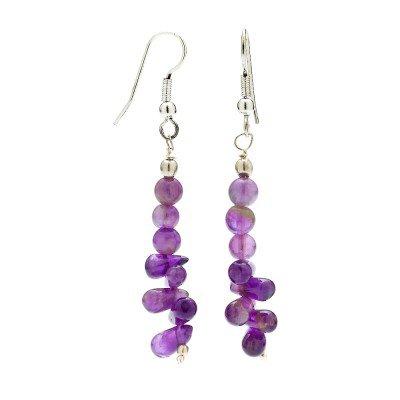 Amethyst Gemstone Dangle Earrings | Mystic Self LLC