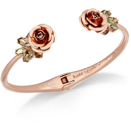 Rose Gold Red Rose Bracelet