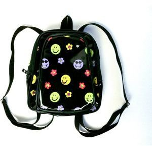 90's Smiley Face Mini Backpack