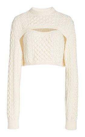 Thousand-In-One-Ways Wool-Cotton Sweater by Rosie Assoulin | Moda Operandi