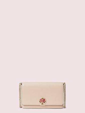 Kate Spade: nicola twistlock chain wallet in blush