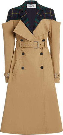 MONSE Deconstructed Gabardine Trench Coat