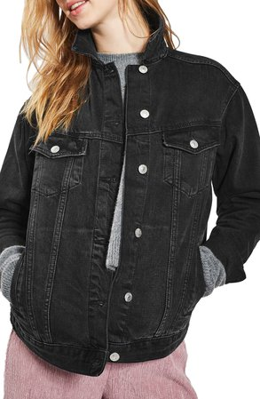 Topshop Oversize Denim Jacket   Nordstrom