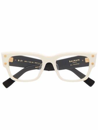 Balmain Eyewear square-frame two-tone Glasses - Farfetch