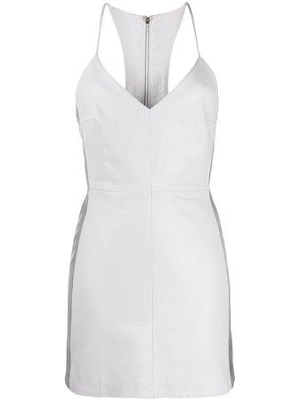 Manokhi Leather Mini Dress FW1920MANO233MIYADRESSA101WHITE White   Farfetch