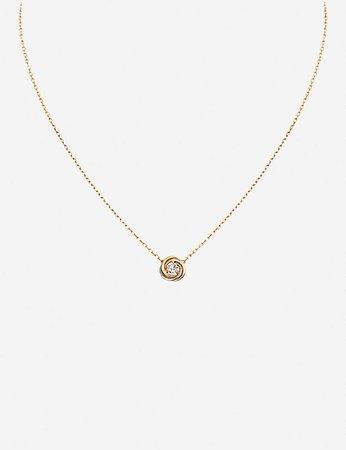 CARTIER - Trinity 18ct gold and diamond necklace | Selfridges.com