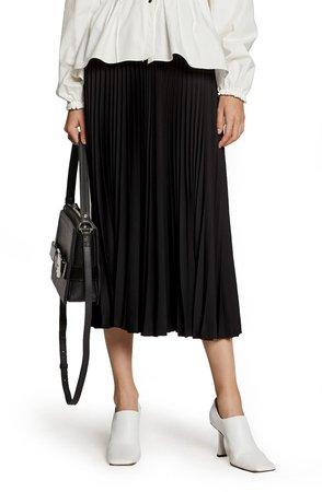 White Label Pleated Midi Skirt