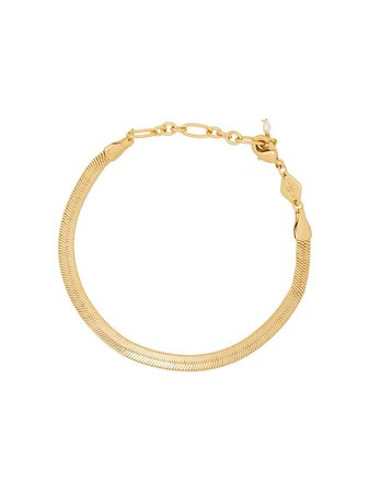Shop gold Anni Lu Snake Charmer link bracelet with Express Delivery - Farfetch