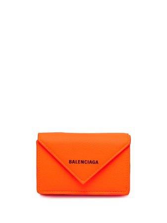 Balenciaga logo-plaque wallet - FARFETCH