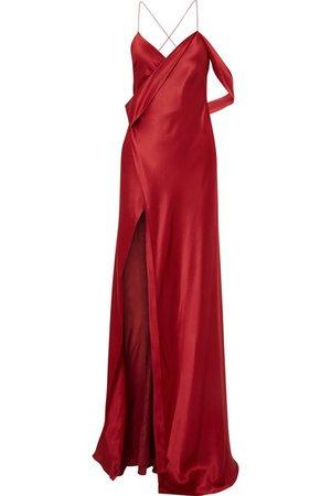 Michelle Mason | Draped silk-charmeuse gown | NET-A-PORTER.COM