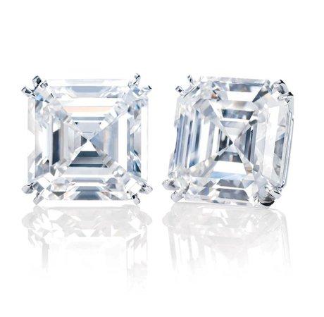 Harry Winston diamond stud earrings